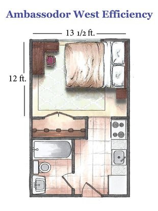 Studio 1 Bathroom Apartment for rent at Ambassador West in Madison, WI