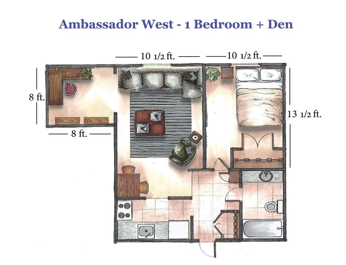 1 Bedroom 1 Bathroom Apartment for rent at Ambassador West in Madison, WI
