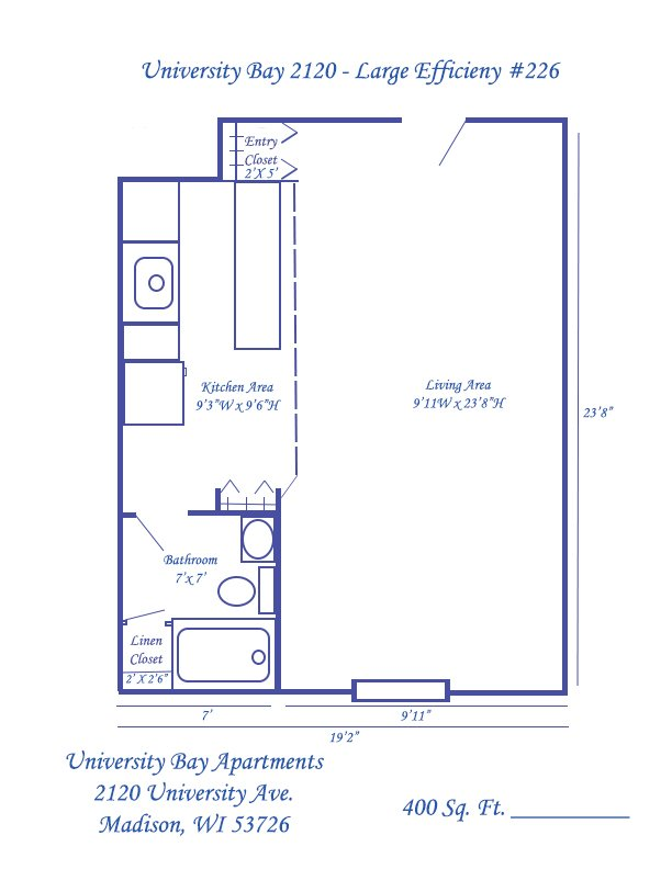 Studio 1 Bathroom Apartment for rent at University Bay in Madison, WI