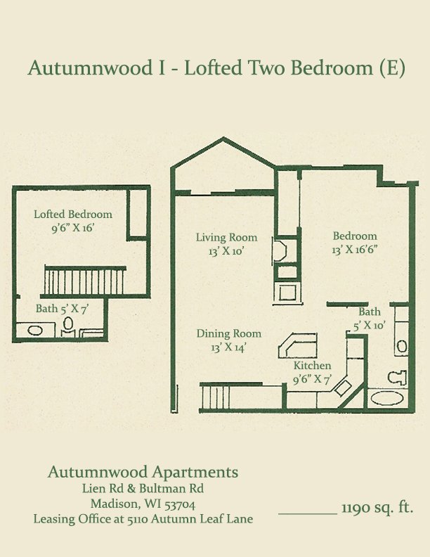 2 Bedrooms 2 Bathrooms Apartment for rent at Autumnwood in Madison, WI