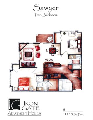 2 Bedrooms 2 Bathrooms Apartment for rent at Iron Gate in Sun Prairie, WI