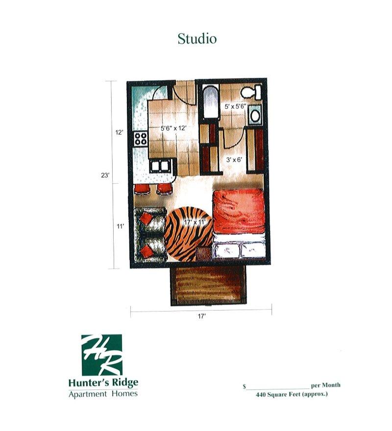 Studio 1 Bathroom Apartment for rent at Hunter's Ridge in Sun Prairie, WI