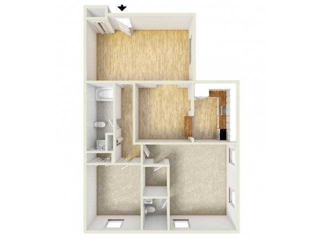 2 Bedrooms 1 Bathroom Apartment for rent at Naamans Village Apartments in Claymont, DE