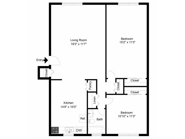 2 Bedrooms 1 Bathroom Apartment for rent at Paoli Place Apartments And Townhomes in Paoli, PA