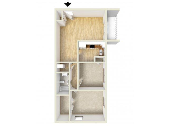 2 Bedrooms 1 Bathroom Apartment for rent at Oak Tree Apartments in Newark, DE