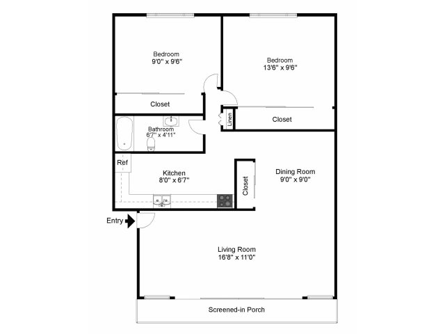 2 Bedrooms 1 Bathroom Apartment for rent at Lansdale Village Apartments in Lansdale, PA