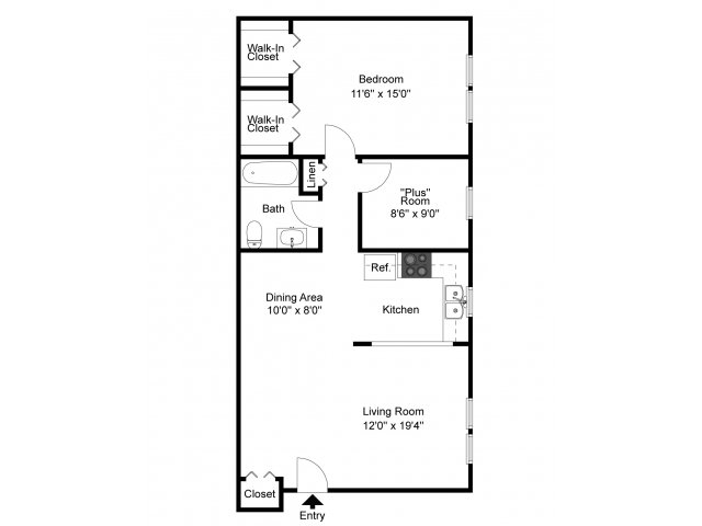 1 Bedroom 1 Bathroom Apartment for rent at Governor Mifflin Apartments in Shillington, PA
