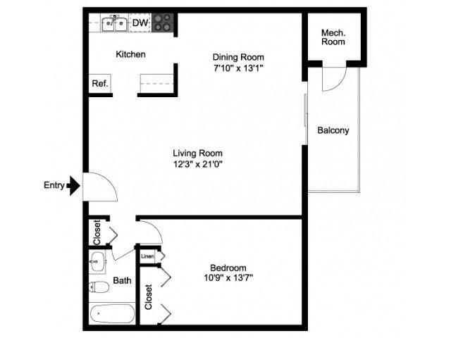 1 Bedroom 1 Bathroom Apartment for rent at Lansdowne Towers Apartments in Aldan, PA