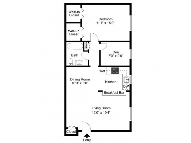 1 Bedroom 1 Bathroom Apartment for rent at Naamans Village Apartments in Claymont, DE