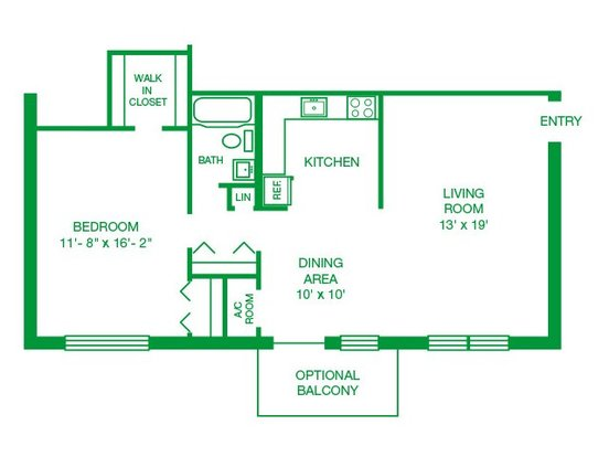 1 Bedroom 1 Bathroom Apartment for rent at Jamestown Village Apartments in Willow Grove, PA