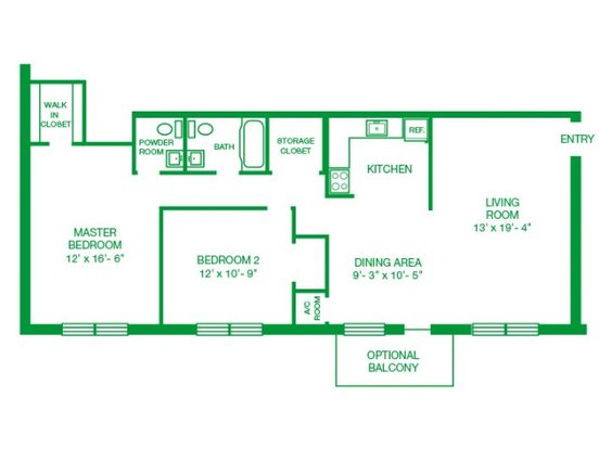 2 Bedrooms 1 Bathroom Apartment for rent at Jamestown Village Apartments in Willow Grove, PA