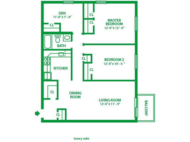 2 Bedrooms 1 Bathroom Apartment for rent at Valley Forge Suites in King Of Prussia, PA