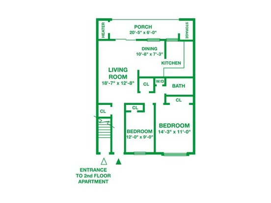 2 Bedrooms 1 Bathroom Apartment for rent at Willow Run Apartments in Willow Grove, PA