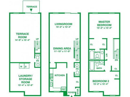 2 Bedrooms 2 Bathrooms Apartment for rent at Willow Run Apartments in Willow Grove, PA