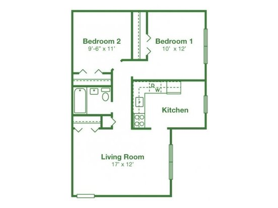 2 Bedrooms 2 Bathrooms Apartment for rent at Boothwyn Court Apartments in Boothwyn, PA