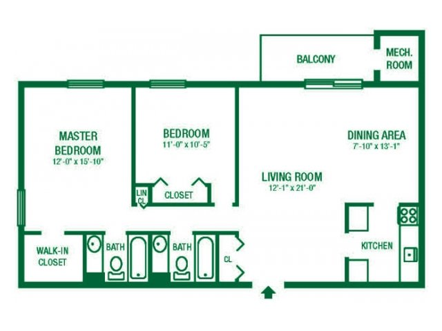 2 Bedrooms 2 Bathrooms Apartment for rent at Lansdowne Towers Apartments in Aldan, PA