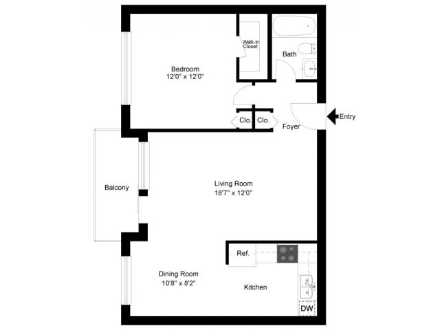 1 Bedroom 1 Bathroom Apartment for rent at Norriton East Apartments (015) in Norristown, PA