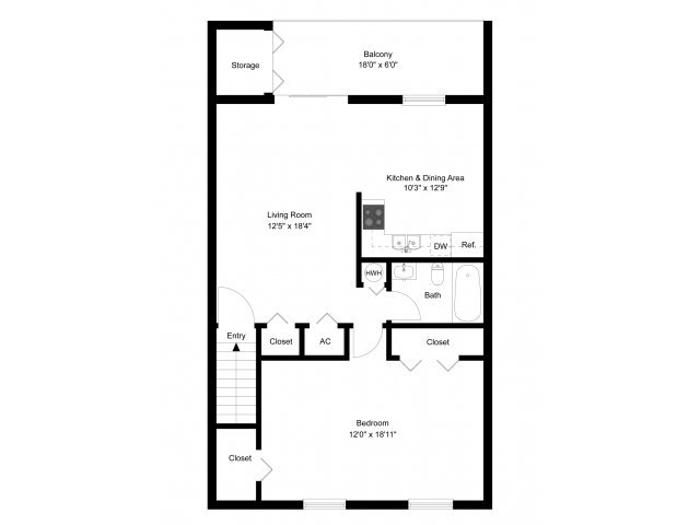 1 Bedroom 1 Bathroom Apartment for rent at Westover Village Apartments in Norristown, PA