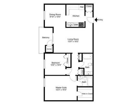 2 Bedrooms 2 Bathrooms Apartment for rent at Fairway Park Apartments & Townhomes in Wilmington, DE