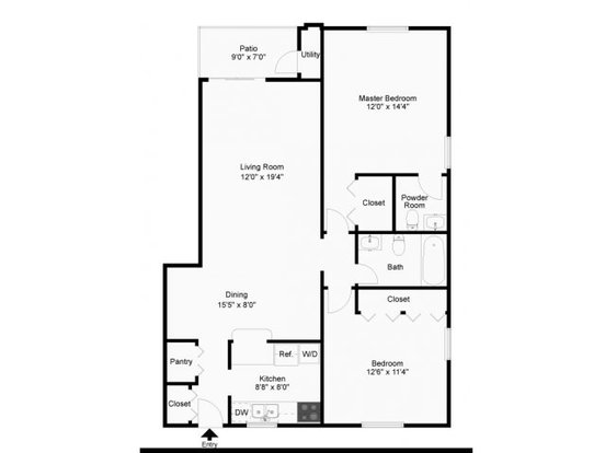 2 Bedrooms 1 Bathroom Apartment for rent at Wyntre Brooke Apartments in West Chester, PA