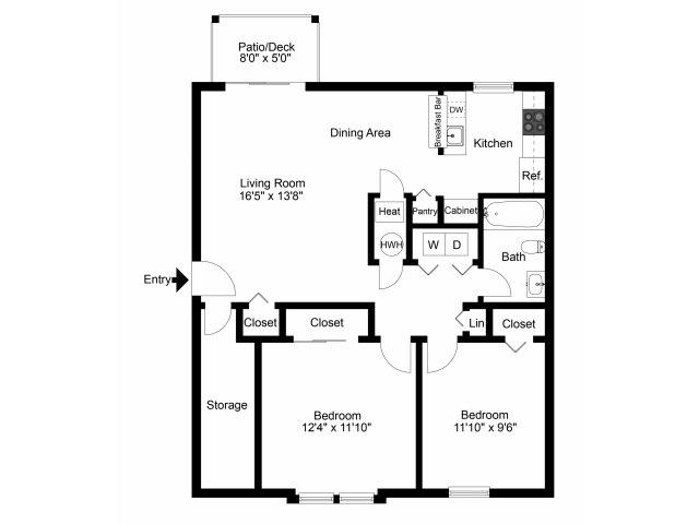 2 Bedrooms 1 Bathroom Apartment for rent at Willow Ridge Village Apartments in Marlton, NJ