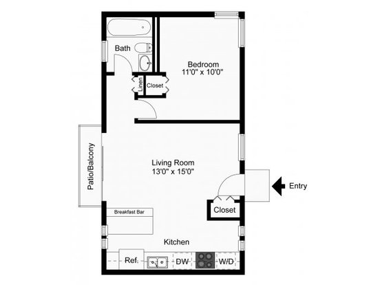 1 Bedroom 1 Bathroom Apartment for rent at Greenville On 141 Apartments & Townhomes in Wilmington, DE
