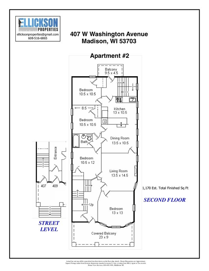 4 Bedrooms 2 Bathrooms Apartment for rent at 407 W Washington Ave in Madison, WI