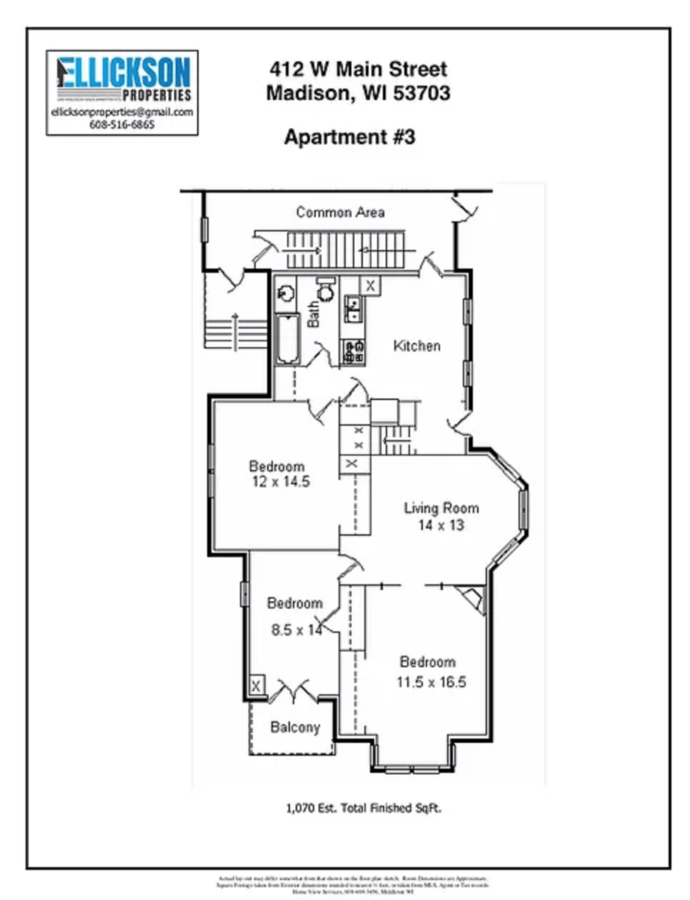 3 Bedrooms 1 Bathroom Apartment for rent at 412 W Main Street in Madison, WI