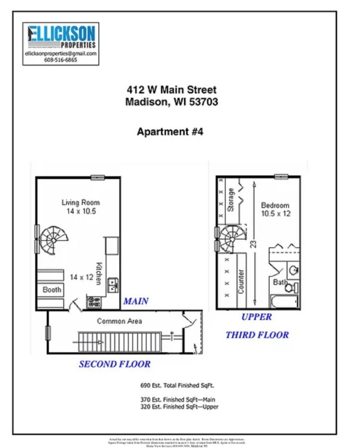 1 Bedroom 1 Bathroom Apartment for rent at 412 W Main Street in Madison, WI