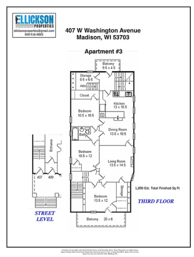 3 Bedrooms 1 Bathroom Apartment for rent at 407 W Washington Ave in Madison, WI