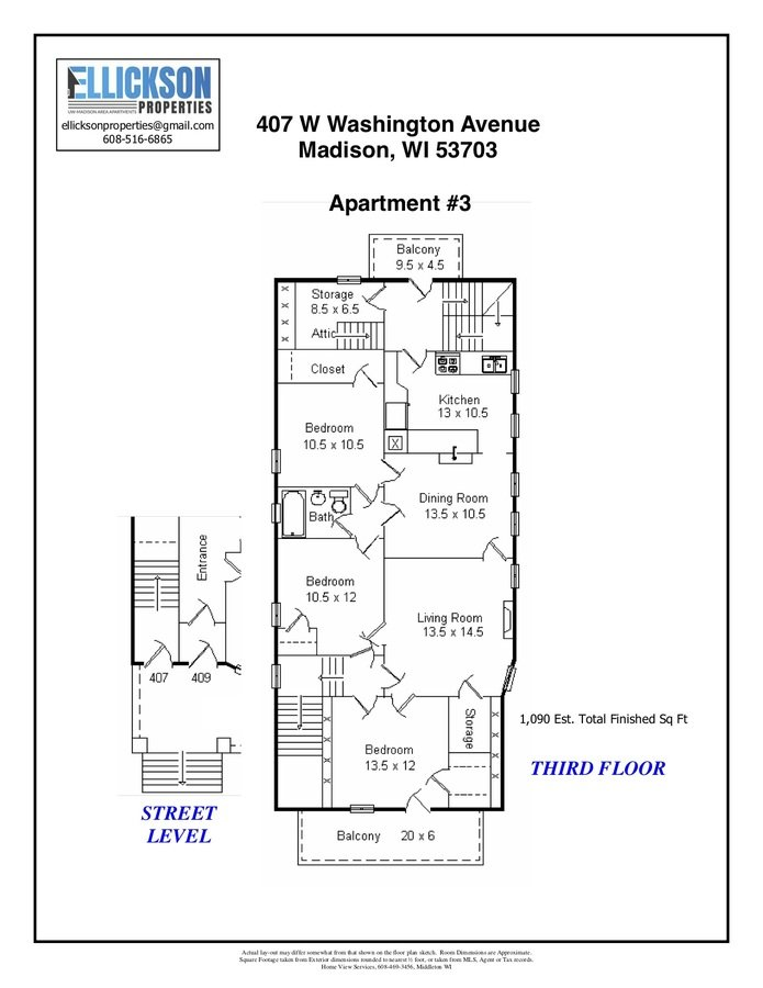 7 Bedrooms 3 Bathrooms Apartment for rent at 407 W Washington Ave in Madison, WI