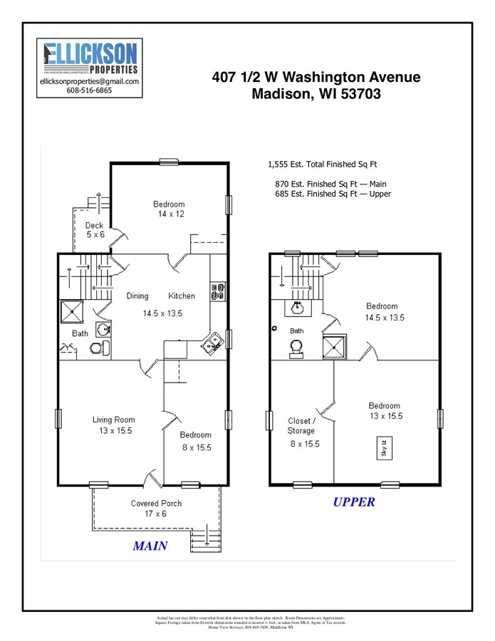 4 Bedrooms 2 Bathrooms House for rent at 407 1/2 W. Washington Ave in Madison, WI
