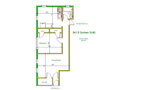 1 Bedroom 1 Bathroom Apartment for rent at 941 E Gorham St in Madison, WI