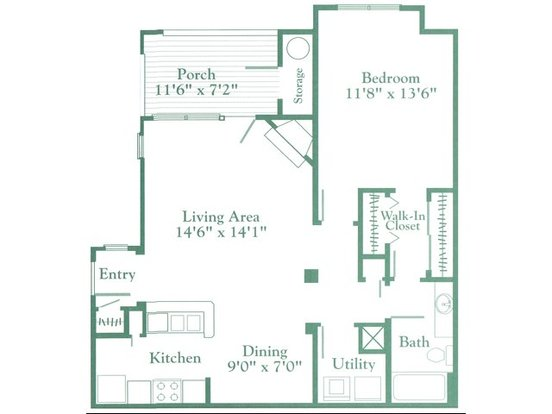 1 Bedroom 1 Bathroom Apartment for rent at Southern Village Apartments in Chapel Hill, NC