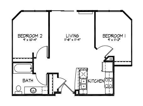 2 Bedrooms 1 Bathroom Apartment for rent at Telluride Apartments in Iowa City, IA
