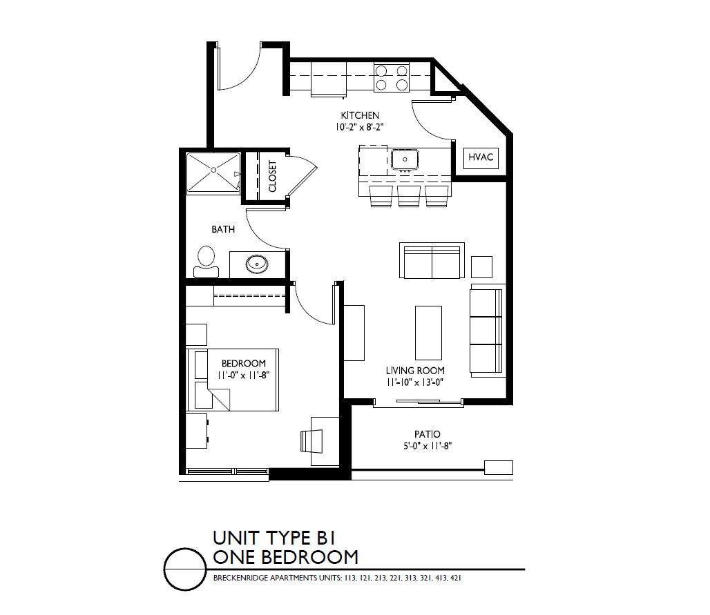 1 Bedroom 1 Bathroom Apartment for rent at Breckenridge Apartments in Iowa City, IA