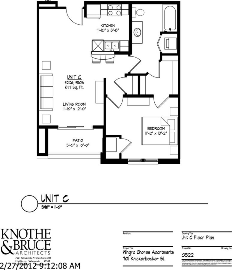 1 Bedroom 1 Bathroom Apartment for rent at 701 Knickerbocker in Madison, WI