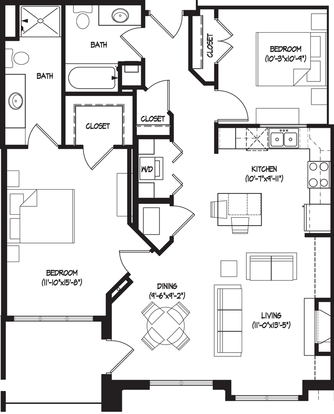 2 Bedrooms 2 Bathrooms Apartment for rent at Wingra Shores in Madison, WI