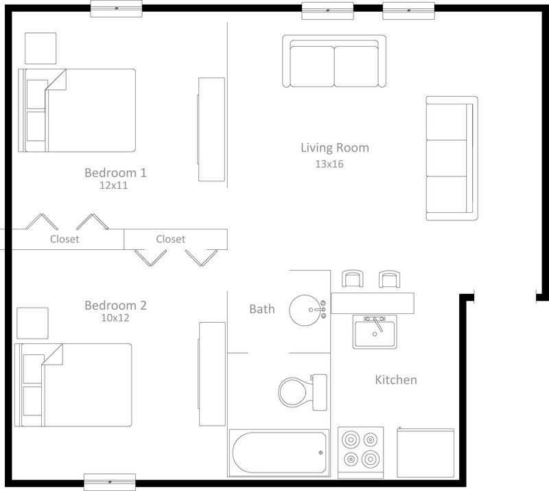 2 Bedrooms 1 Bathroom Apartment for rent at 251 Langdon Street in Madison, WI