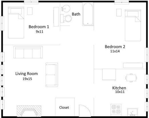 2 Bedrooms 1 Bathroom Apartment for rent at 1615 Hoyt Street in Madison, WI