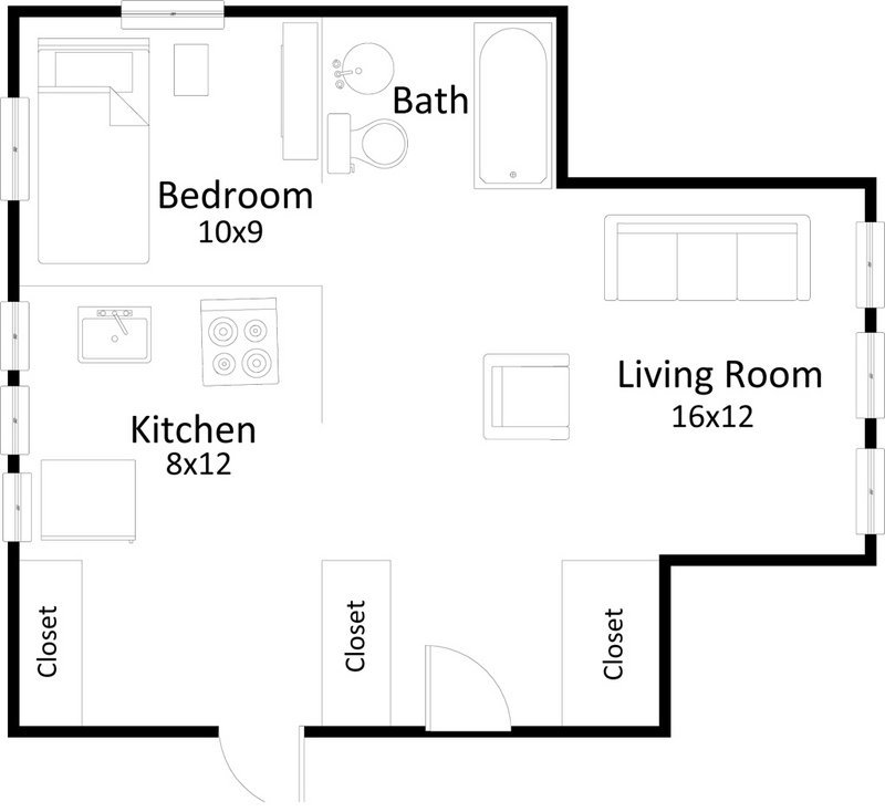 1 Bedroom 1 Bathroom Apartment for rent at 1615 Hoyt Street in Madison, WI