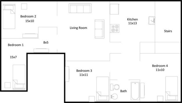 4 Bedrooms 1 Bathroom Apartment for rent at 18-20 Lathrop Street in Madison, WI