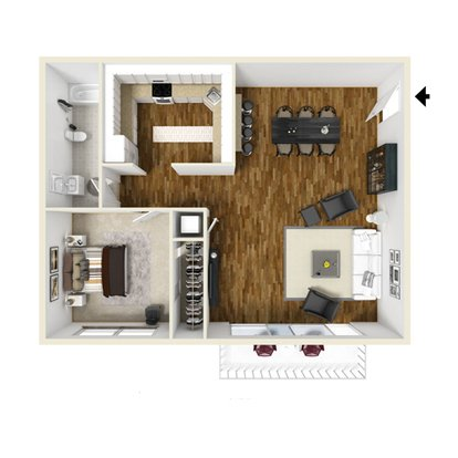 1 Bedroom 1 Bathroom Apartment for rent at The Avenue in Louisville, KY