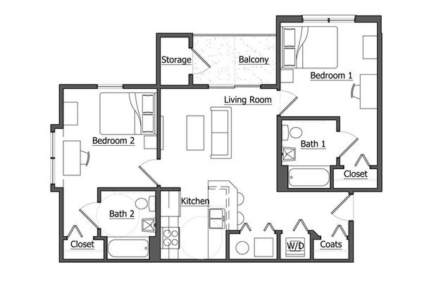 2 Bedrooms 2 Bathrooms Apartment for rent at The Pointe At U Of I in Urbana, IL