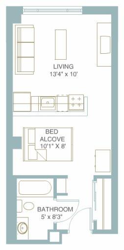 Studio 1 Bathroom Apartment for rent at 1301 University in Minneapolis, MN