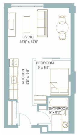 1 Bedroom 1 Bathroom Apartment for rent at 1301 University in Minneapolis, MN