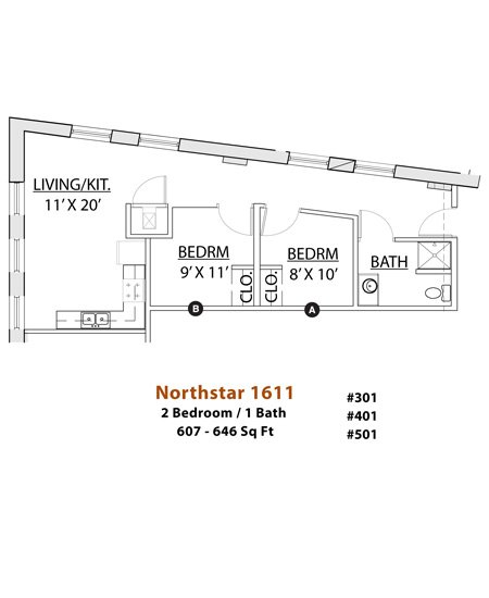 2 Bedrooms 1 Bathroom Apartment for rent at Northstar in Minneapolis, MN