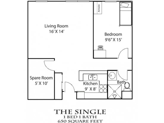 1 Bedroom 1 Bathroom Apartment for rent at Bierman Place in Minneapolis, MN