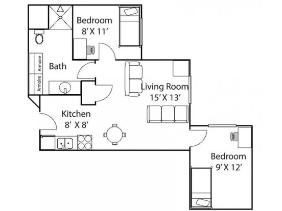 2 Bedrooms 1 Bathroom Apartment for rent at Bierman Place in Minneapolis, MN