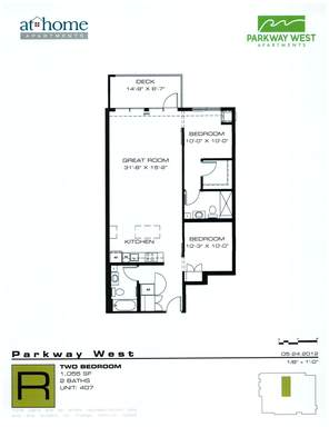 2 Bedrooms 2 Bathrooms Apartment for rent at Parkway West in Minneapolis, MN